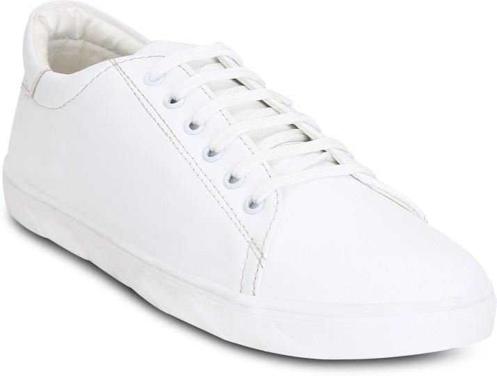 Kielz White-Lace-Ups-Men's-Sneakers