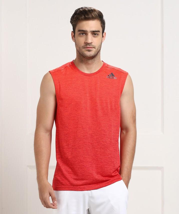 Mens Black and Red Adidas Shirt