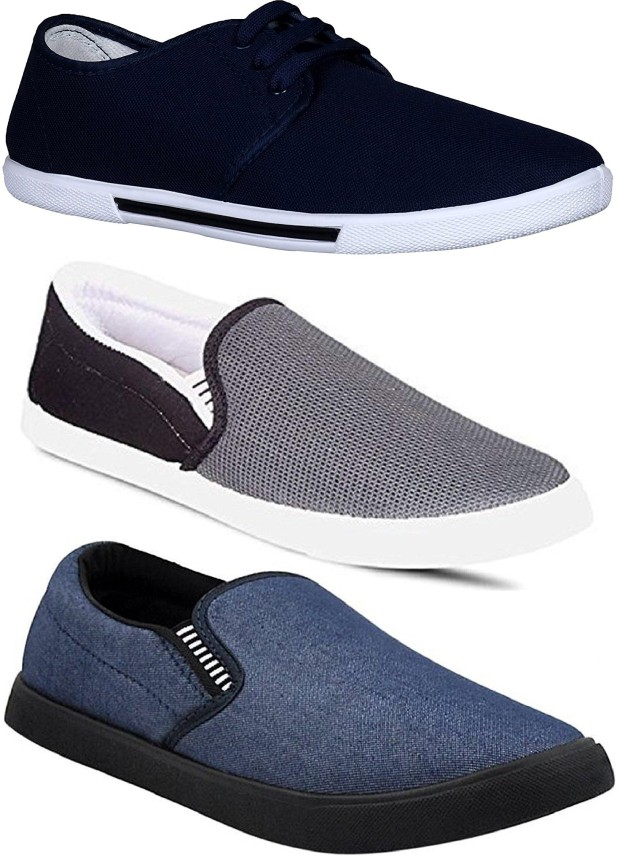 Pexlo Combo Pack of 3 Casual Shoes