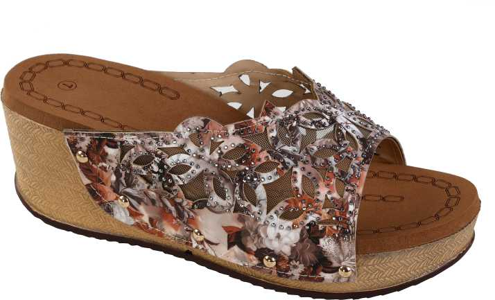 b7a15cabc502 Zappy Women Brown Wedges - Buy Zappy Women Brown Wedges Online at Best  Price - Shop Online for Footwears in India