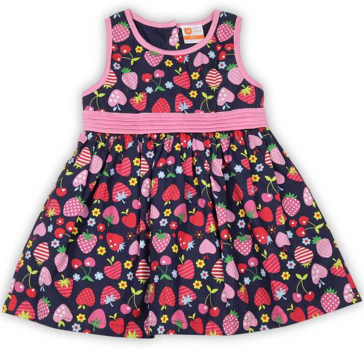 662c2a61cdd9 612 League Girls Midi/Knee Length Casual Dress Price in India - Buy ...