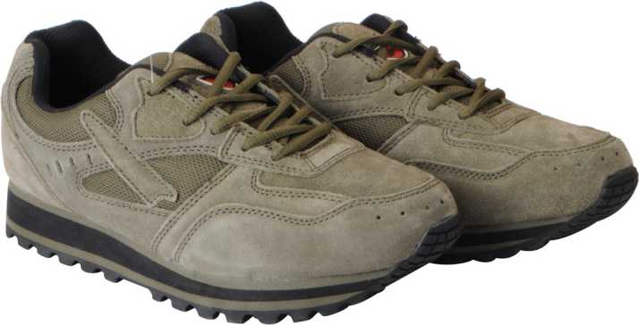 5817474b013 Lakhani Pace Suede Leather Sports Hiking & Trekking Shoes For Men (Olive)