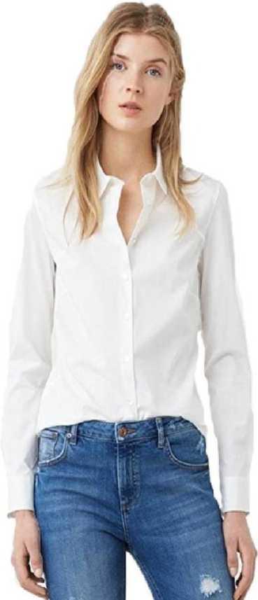 f9310928b0c ItkiUtki Women Solid Formal White Shirt - Buy ItkiUtki Women Solid ...