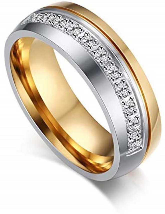 Daluci Wedding Ring For Women Gold Color Love Engagement Couple