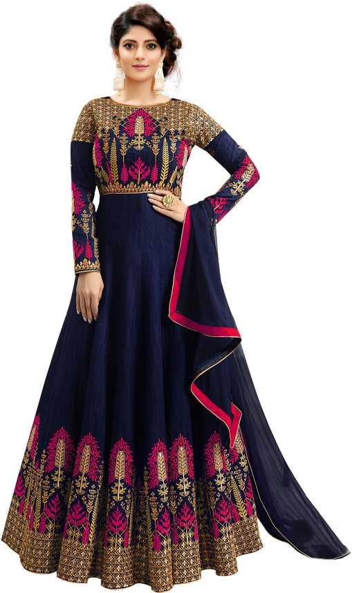 4c221825375 Trilok Fab Anarkali Gown Price in India - Buy Trilok Fab Anarkali Gown  online at Flipkart.com