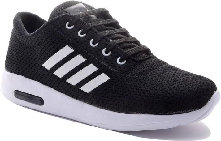 Aadi Black Mesh Outdoor Casual Shoes