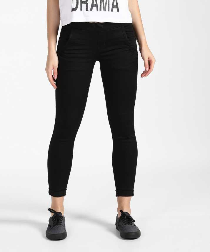9320b19f0f594d Denizen from Levi's Jogger Fit Women Black Jeans - Buy Denizen from Levi's  Jogger Fit Women Black Jeans Online at Best Prices in India | Flipkart.com