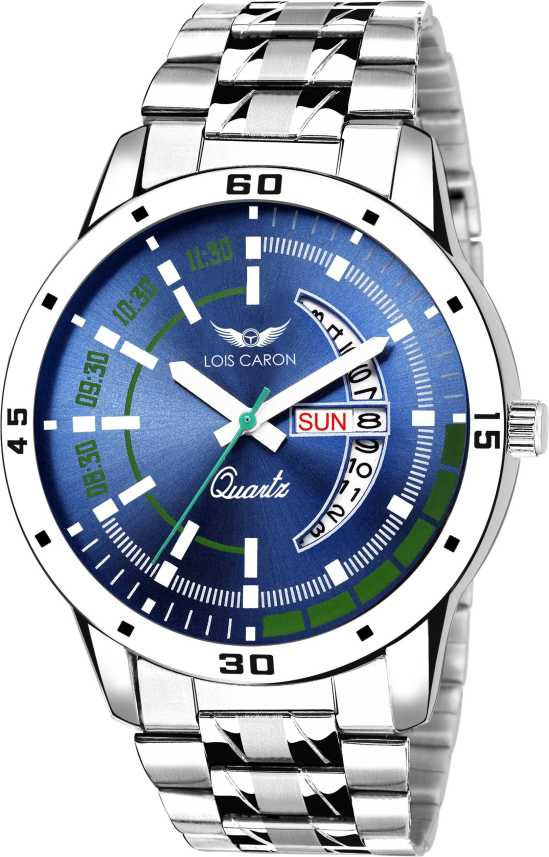 61cb260c0 Lois Caron LCS-8075 BLUE DIAL DAY   DATE FUNCTIONING Analog Watch - For Men  - Buy Lois Caron LCS-8075 BLUE DIAL DAY   DATE FUNCTIONING Analog Watch -  For ...