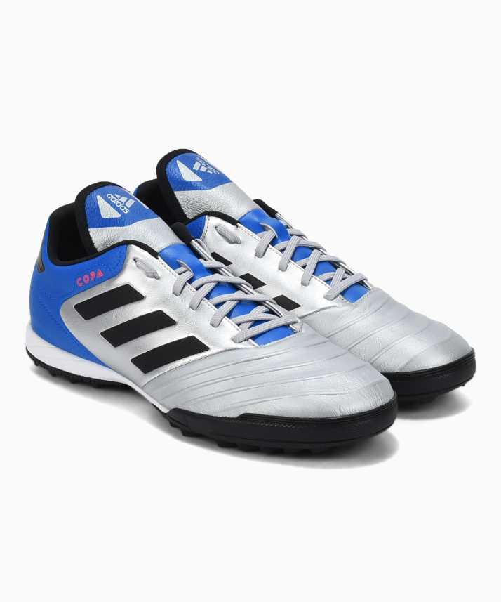 release date: a0fd6 9a027 ADIDAS COPA TANGO 18.3 TF Football Shoes For Men (Blue, Silver)