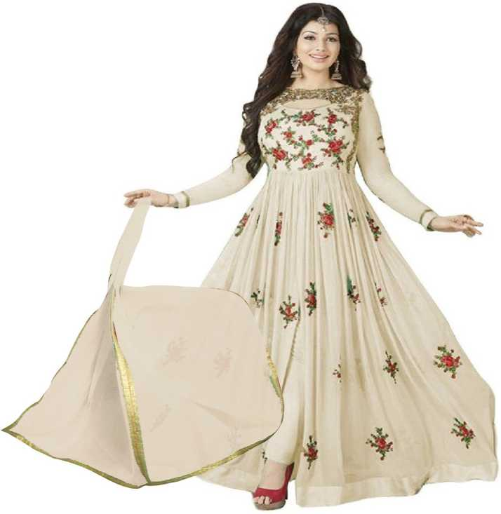 cb9a36afc0 Pervious Fashion Faux Georgette Embroidered Semi-stitched Salwar Suit  Dupatta Material Price in India - Buy Pervious Fashion Faux Georgette  Embroidered ...