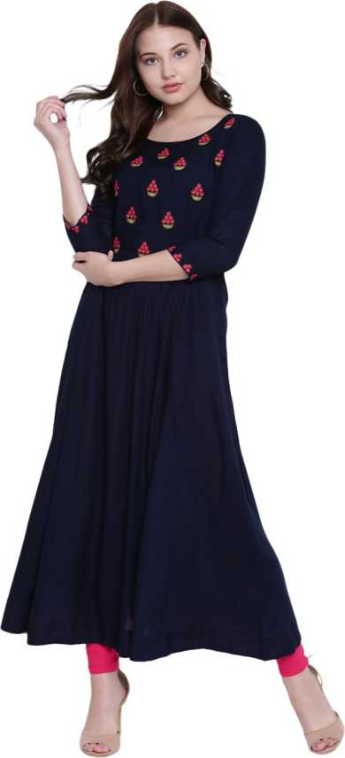 7a6c9802d Gulmohar Jaipur Women s Embroidered Anarkali Kurta - Buy Gulmohar ...