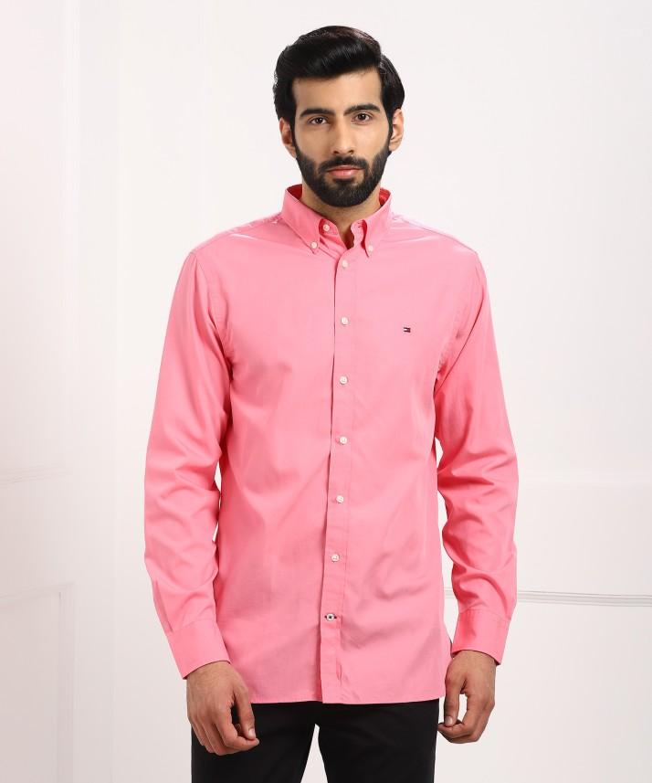 mens pink tommy hilfiger shirt