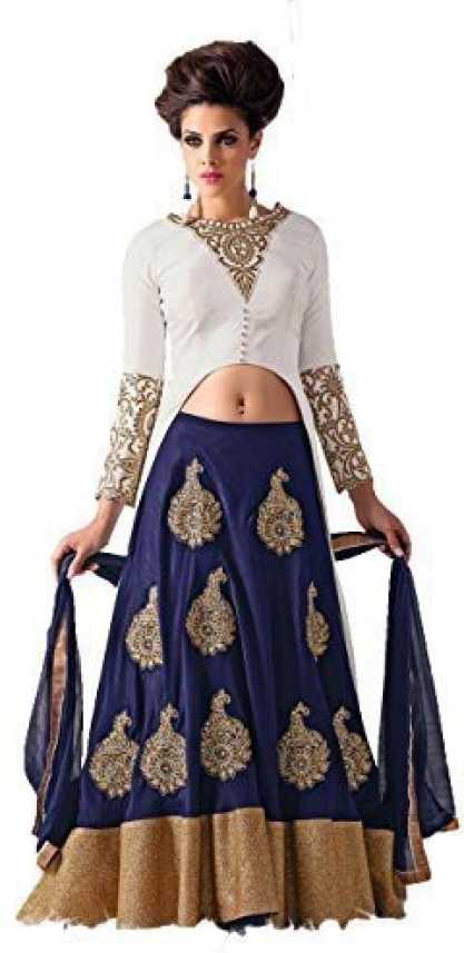 d48aa2a34f Mert India Embroidered Lehenga Choli - Buy blue Mert India ...
