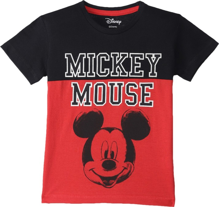 New Disney Mickey Mouse Character Multi-Color 100/% Cotton Kids T-Shirt