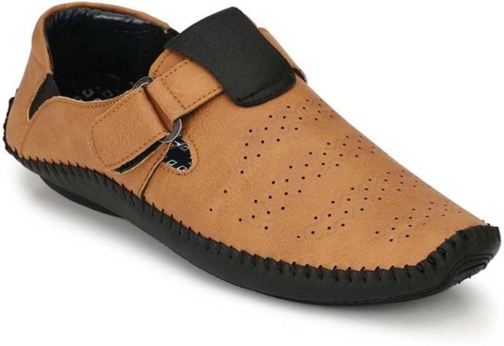 Dakarr Men Tan Sandals - Buy Dakarr Men