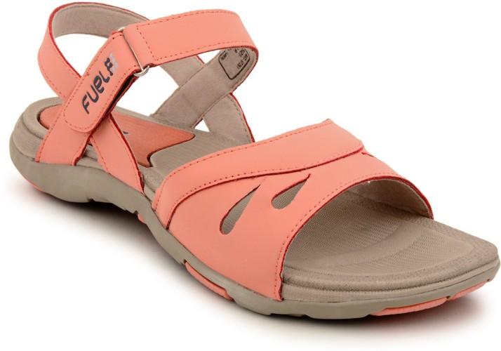 Fuel Women Orange, Beige Sports Sandals