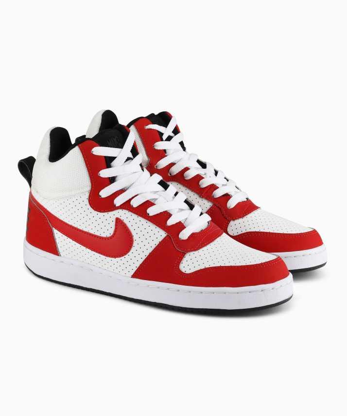 educador lema Arena  Nike COURT BOROUGH MID Sneakers For Men - Buy WHITE/GYM RED-BLACK ...
