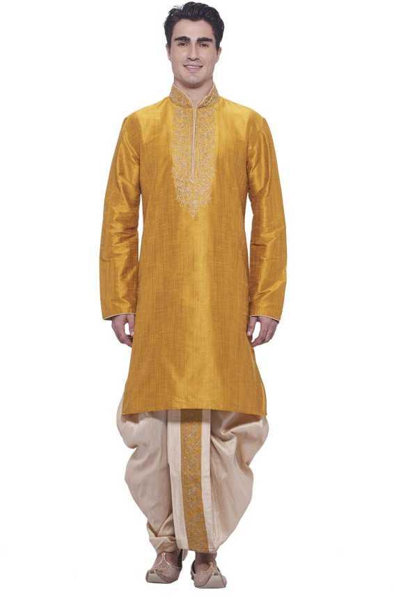 374717b314 Manyavar Men's Kurta and Dhoti Pant Set - Buy Mustard Manyavar Men's Kurta  and Dhoti Pant Set Online at Best Prices in India   Flipkart.com