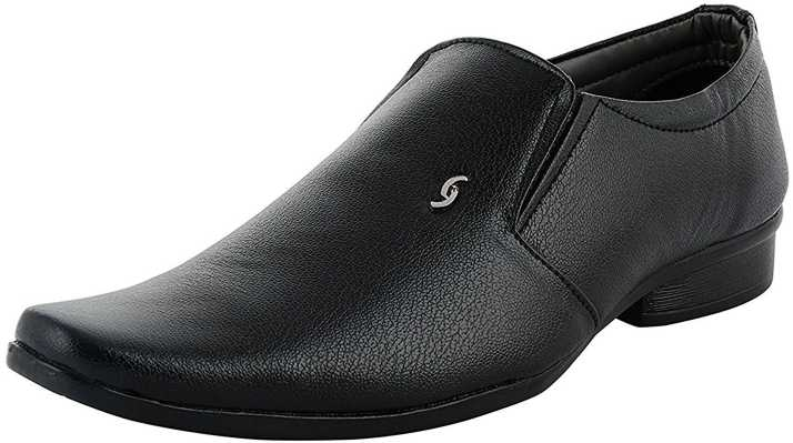 e9c4632436ad GSTM Synthetic Leather Casual Office Use Wedding Formal Shoes For Mens And Boys  Slip On For Men (Black)