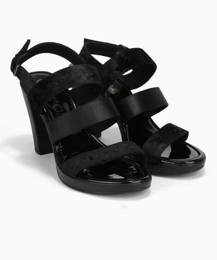 ce36f3d99 Catwalk Women Black Heels - Buy Catwalk Women Black Heels Online at Best  Price - Shop Online for Footwears in India
