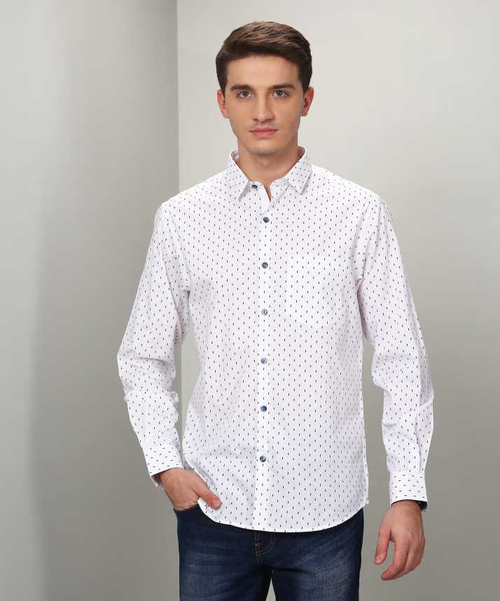 d55c1007226 John Players Men's Printed Casual White Shirt