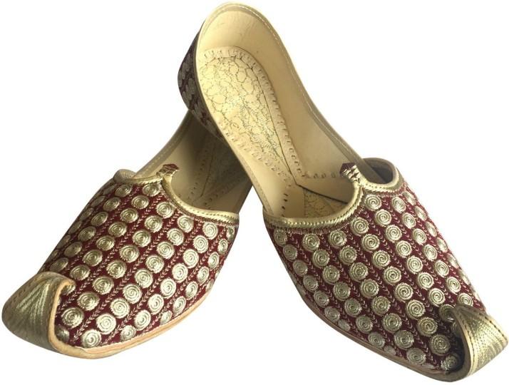 Step n Style Mens Ethnic Punjabi Jutti Khussa Wedding Shoes for Sherwani Formal Shoes