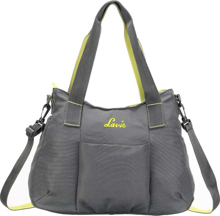 4d6c6bb5ddba10 Buy Lavie - Anushka collection Women Grey Hand-held Bag DK.GREY Online @  Best Price in India | Flipkart.com