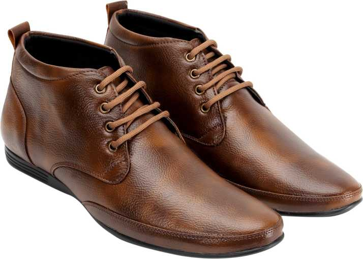 High Ankle Office Shoes Derby For Men