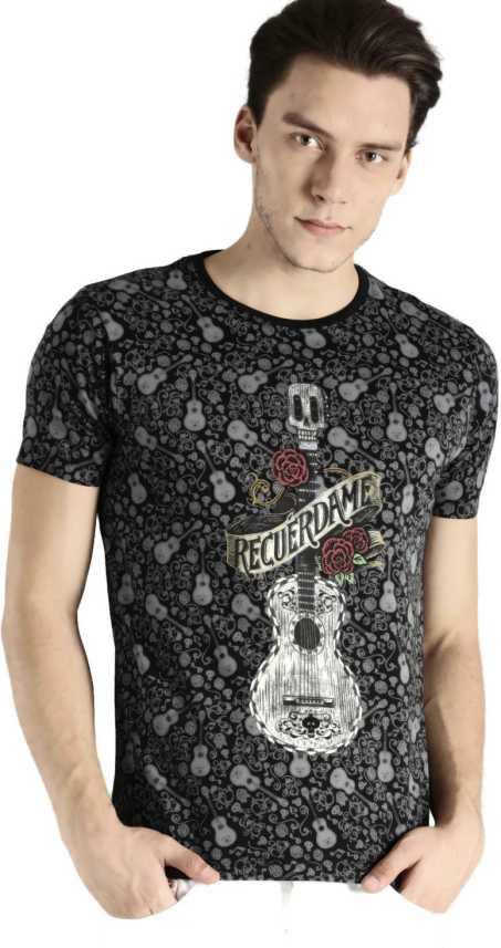 221635860d Kook N Keech Disney Graphic Print Men Round Neck Multicolor T-Shirt ...