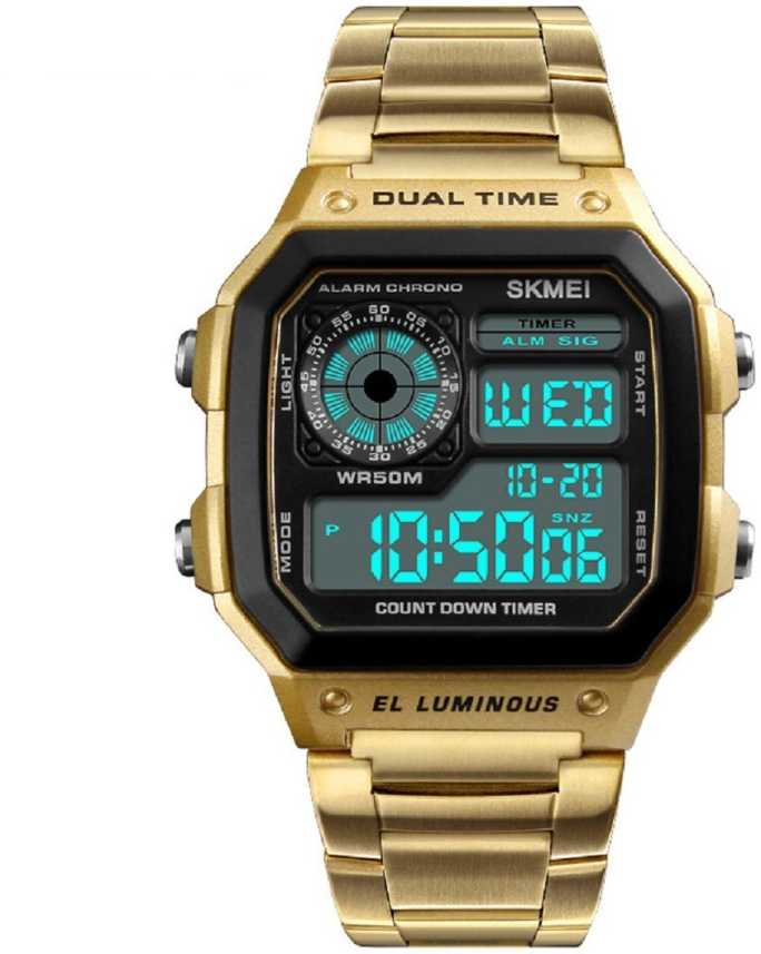 Skmei 1335 Gold Chronograph Digital Stainless Steel Sports Digital Watch For Men Buy Skmei 1335 Gold Chronograph Digital Stainless Steel Sports Digital Watch For Men 1335 Gold Chronograph Digital
