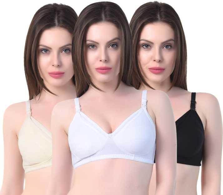 768fdb66e3c Alazne Alazne Breastfeeding Maternity bra For Women s Combo ( Pack ...