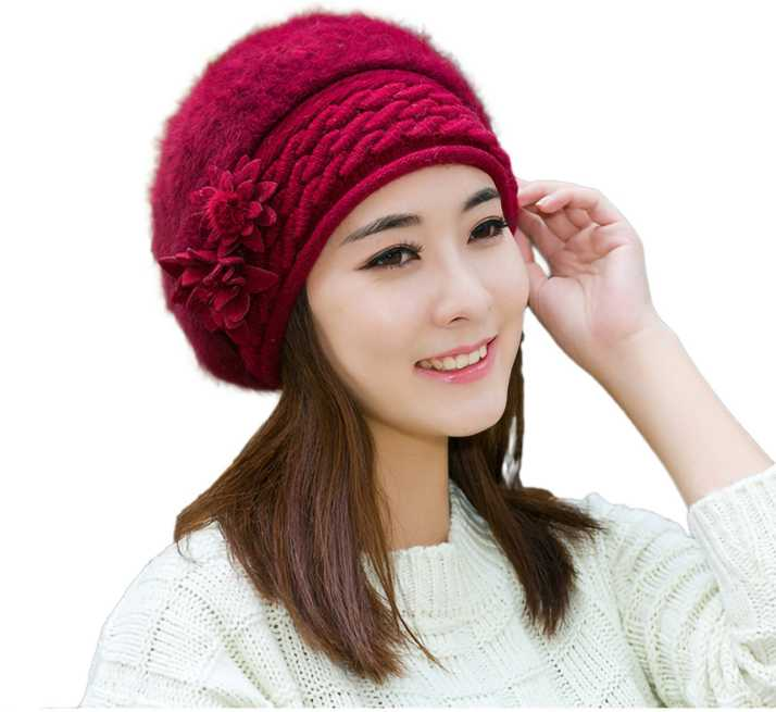 0ea4f3d376d iSweven Solid Stylish Winter Fashion Woollen Cap for Girls Womens Cap - Buy  iSweven Solid Stylish Winter Fashion Woollen Cap for Girls Womens Cap  Online at ...