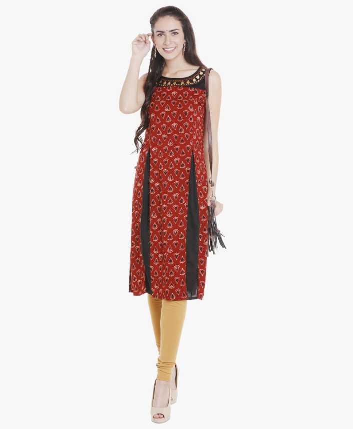 024739c9786f4 fbb - Srishti Women Block Print Straight Kurta - Buy fbb - Srishti ...