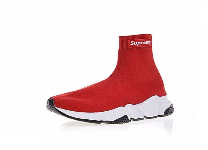 ec43f369a74b7 Supreme X Balenciaga Speed Trainer Red Running Shoes For Men - Buy Supreme  X Balenciaga Speed Trainer Red Running Shoes For Men Online at Best Price -  Shop ...