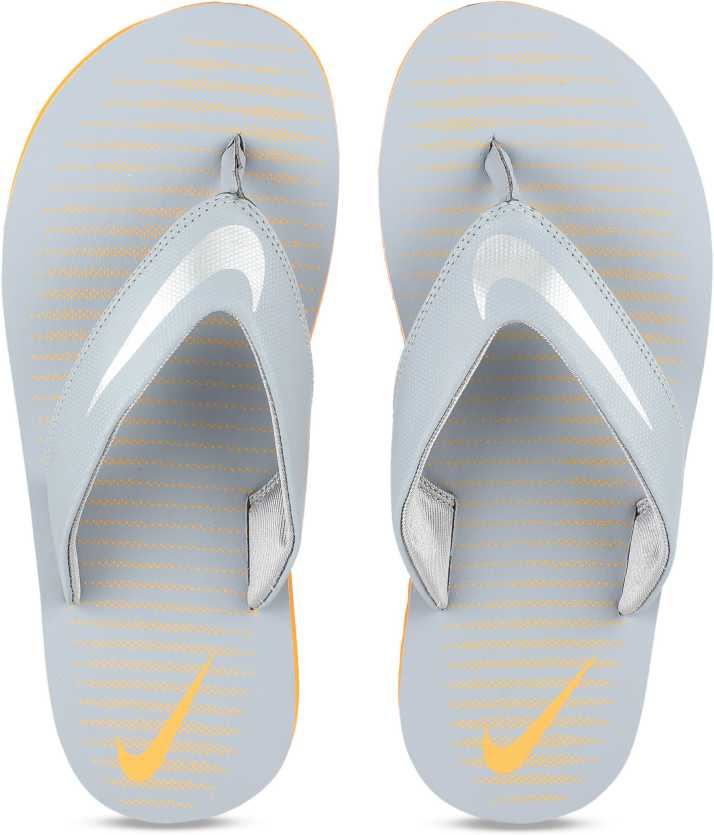2ce650ac6 Nike CHROMA THONG 5 SS 19 Slippers - Buy STEALTH CHROME-VIVID ORANGE Color Nike  CHROMA THONG 5 SS 19 Slippers Online at Best Price - Shop Online for ...