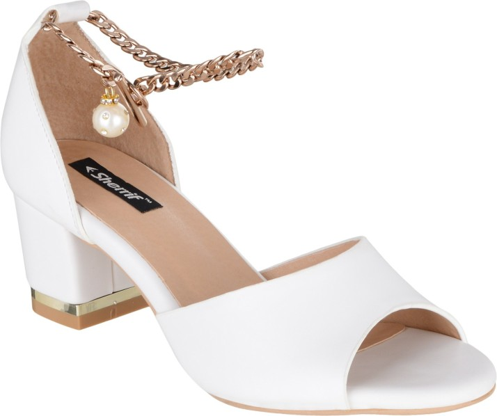 SHERRIF SHOES Women White Heels - Buy