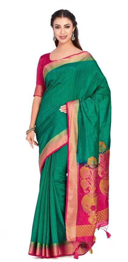 9df3c0434bbbc9 Buy Mimosa Plain Fashion Raw Silk Green Sarees Online   Best Price ...