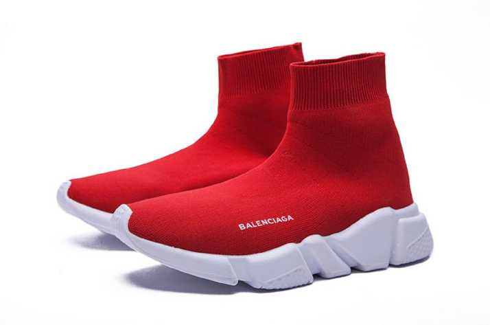 new products 43f54 12aaa Balenciaga Speed Trainer Red Sneakers For Men