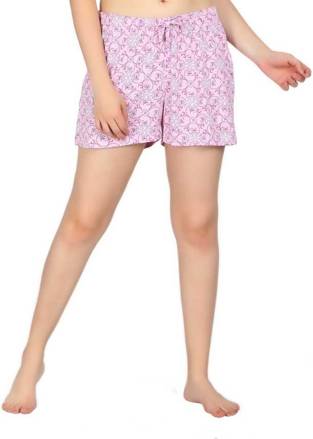 92d0fbbfce Kotty Floral Print Women Pink Night Shorts - Buy Kotty Floral Print Women  Pink Night Shorts Online at Best Prices in India