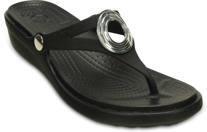 c17b475d8e81 Crocs Women Black Wedges - Buy Black Color Crocs Women Black Wedges Online  at Best Price - Shop Online for Footwears in India