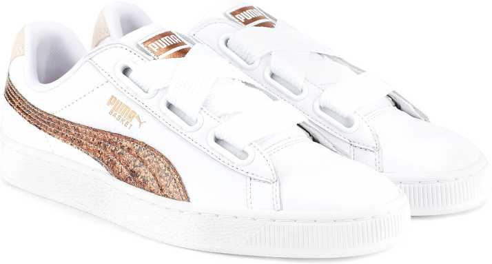 ce9e1849376 Puma Basket Heart Glitter Wn s Puma White-Ros Sneakers For Women (White)