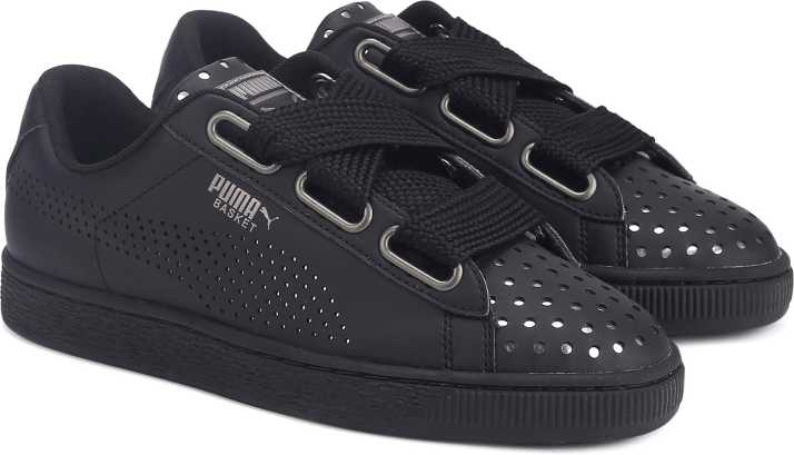 9bfa0b04fba002 Puma Basket Heart Ath Lux Wn s Sneakers For Women - Buy Puma Black ...