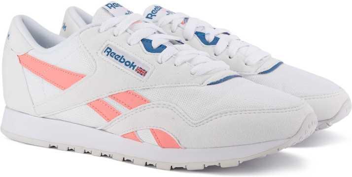 REEBOK CLASSICS CL NYLON M TXT Sneakers For Women - Buy WHITE DIGITAL PINK BLUE  Color REEBOK CLASSICS CL NYLON M TXT Sneakers For Women Online at Best  Price ... 246e9fc8b99b7