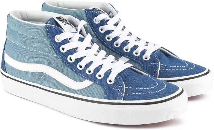 Vans SK8-Mid Reissue Sneakers For Men - Buy (Denim 2-Tone) blue true ... 12e14a3be