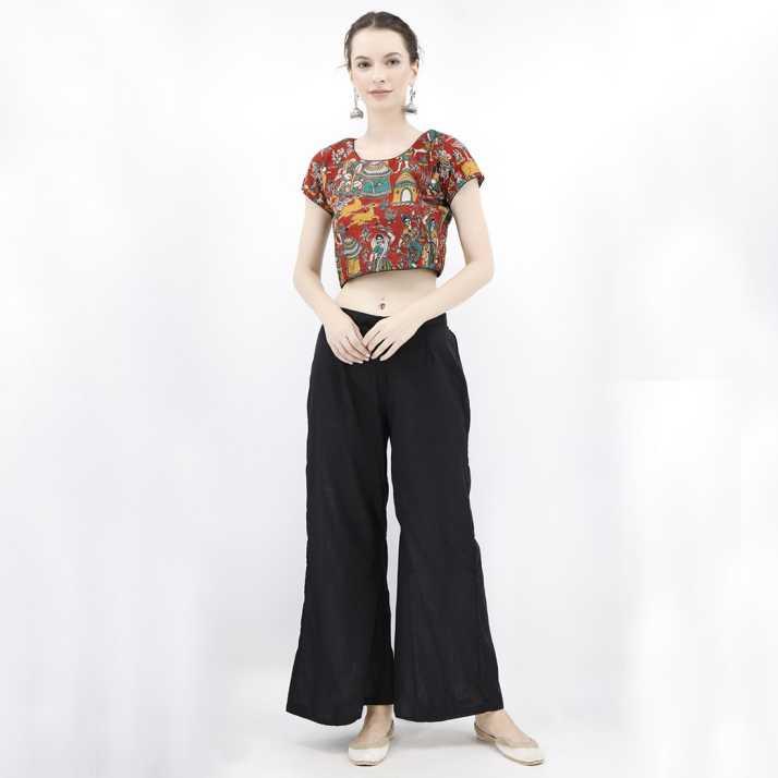 0cd29f3d17f23e TJORI Round Neck Women Blouse - Buy TJORI Round Neck Women Blouse Online at Best  Prices in India | Flipkart.com