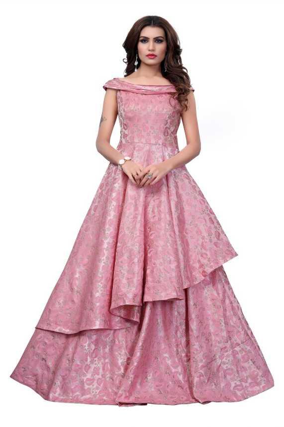 68605983bbaf6f Gunj Fashion Flared Gown Price in India - Buy Gunj Fashion Flared ...