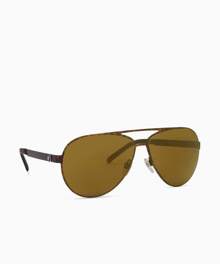 1be8253769b1 Buy BMW Aviator Sunglasses Golden For Men Online   Best Prices in ...