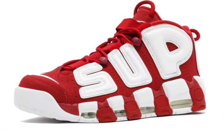 Nike Air More Uptempo X Supreme Red Basketball Shoes