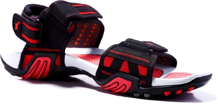 Men SS-428 Black Red Floater Sandals