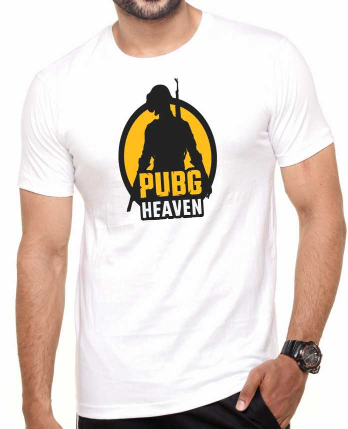 f22e4098d PUBG by Pali's Graphic Print Men Round or Crew White T-Shirt - Buy PUBG by  Pali's Graphic Print Men Round or Crew White T-Shirt Online at Best Prices  in ...